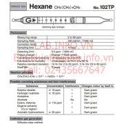 Gastec No.102TP Hexane CH3(CH2)4CH3