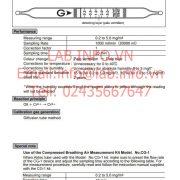 Ống xác định hàm lượng dầu trong khí nén No.109A No.109AD