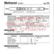 Gastec No.111 Methanol CH3OH