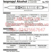 Gastec No.113 Isopropyl Alcohol CH3CH(OH)CH3 iC3H7OH