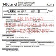 Gastec No.114 1-Butanol CH3CH2CH2CH2OH CH3(CH2)3OH