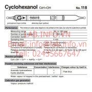Gastec No. 118 Cyclohexanol C6H11OH