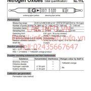 Ống phát hiện khí nhanh Nitrogen Oxides NO NO2 11L