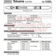Gastec No.122DL Toluene C6H5CH3