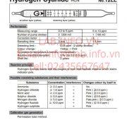 Ống phát hiện khí nhanh Hydrogen Cyanide HCN 12LL