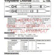 Ống phát hiện nhanh hơi khí độc Vinylidene chloride Gastec 130L