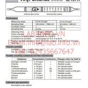 Gastec No.131TP Vinyl Chloride CH2CHCl