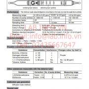 Gastec No.132LL Trichloroethylene CHClCCl2