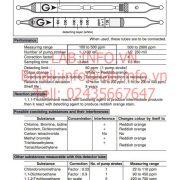 Gastec No.135 1,1,1 Trichloroethane CH3CCl3