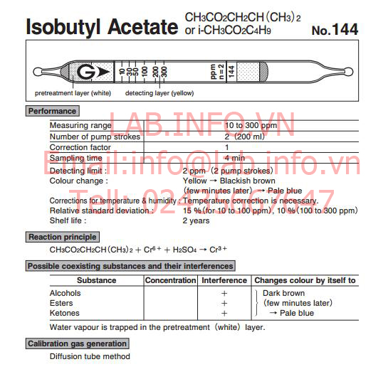 Test thử nhanh khí Isobutyl acetate