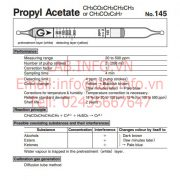 Gastec No.145 Propyl Acetate-CH3CO2C3H7