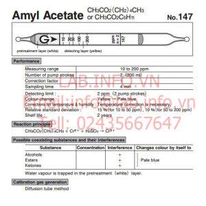 Ống phát hiện khí nhanh Amyl acetate