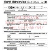Gastec No.149 Methyl Methacrylate CH2C(CH3)CO2CH3