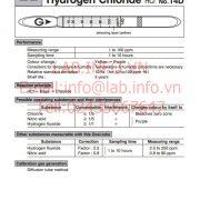 Ống phát hiện khí nhanh Hydrogen Chloride HCl gastec 14D