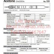 Gastec No.151 Acetone CH3COCH3