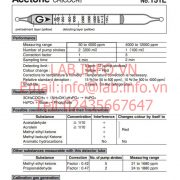 Gastec No.151L Acetone CH3COCH3