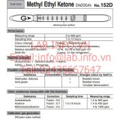 Gastec No.152D Methyl Ethyl Ketone CH3COC2H5