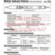 GastecNo.153 Methyl Isobutyl Ketone (CH3)2CHCH2COCH3