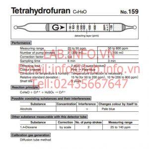 Ống phát hiện nhanh khí Tetrahydrofuran