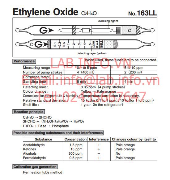 Test thử nhanh khí Ethylene oxide