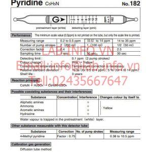 Ống phát hiện khí nhanh Pyridine