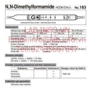 Ống phát hiện khí nhanh N,N-Dimethylformamide