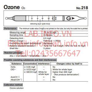 Ống xác định nồng độ Ozone O3 trong dung dịch
