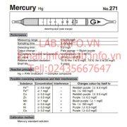 Gastec No.271 Mercury Hg