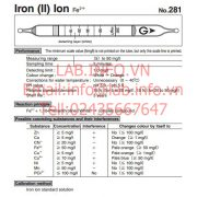 Gastec no.281 Iron(II)Ion Fe2+