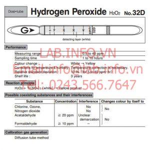 Đo nhanh khí độc Hydrogen peroxide