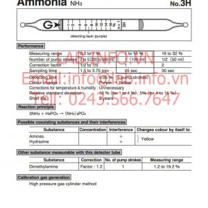 phát hiện nhanh hơi khí độc ammonia NH3 3H
