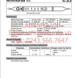 phát hiện nhanh hơi khí độc ammonia NH3 3LA