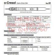 Gastec No.61 o-Cresol C6H4(CH3)OH
