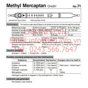 Gastec No.71 Methyl Mercaptan CH3SH