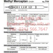 Gastec No.71H Methyl Mercaptan CH3SH