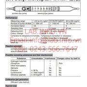 Gastec No.75N Tert Butyl Mercaptan (CH3)3CSH