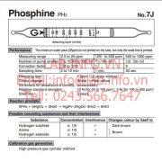 Ống phát hiện khí nhanh Phosphine-PH3 gastec 7J