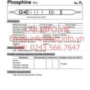 Ống phát hiện khí nhanh Phosphine-PH3 gastec 7L