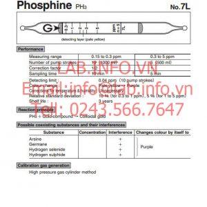 Ống phát hiện khí nhanh phosphine PH3 dùng cho parner samsum
