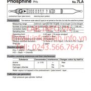 Ống phát hiện khí nhanh Phosphine-PH3 gastec 7LA