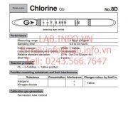 Ống phát hiện khí nhanh Chlorine-Cl2 No.8D
