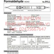 Gastec No.91LL Formaldehyde HCHO