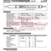Ống phát hiện khí nhanh Gastec No.91P Formaldehyde HCHO