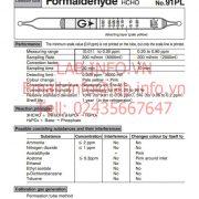 Gastec No.91PL Formaldehyde HCHO