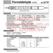 Gastec No.91TP Formaldehyde HCHO