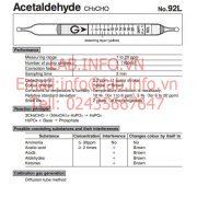 Gastec No.92L Acetaldehyde CH3CHO