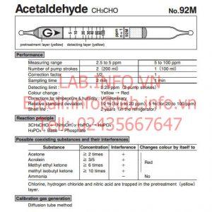 Ống phát hiện khí Acetaldehyde