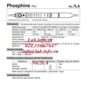 Ống phát hiện khí nhanh gastec 7LA phosphine
