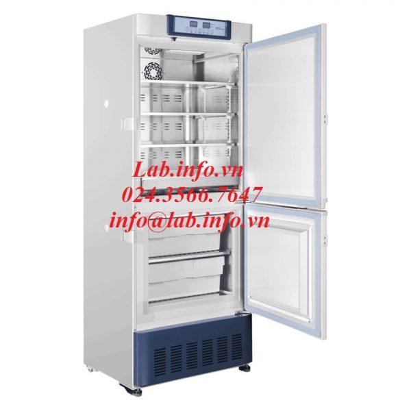 Tủ lạnh phòng thí nghiệm, tủ lạnh y tế có 2 vùng nhiệt độ từ 2-8oC và từ -10oC đến -40oC sử dụng trong thí nghiệm, y tế bảo quản vaccine, sinh phẩm, mẫu