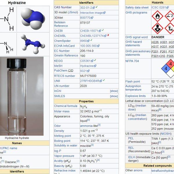 Đo nhanh khí độc Hydrazine